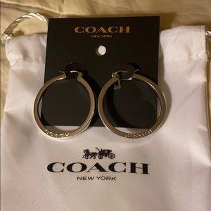 Coach Silver Hoop Earrings